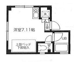 東京都中野区野方6丁目の賃貸マンションの間取り