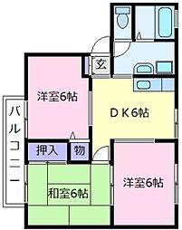 ツインハイツ[2階]の間取り