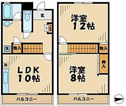 東京都八王子市堀之内3丁目の賃貸マンションの間取り