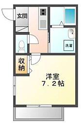 東武越生線 東毛呂駅 徒歩8分の賃貸アパート 1階1Kの間取り