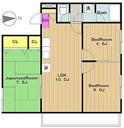 ヤマト永山ハウス[2階]の間取り