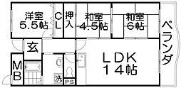 アイミナール石津[2階]の間取り