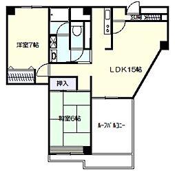フレイスハイム1[5階]の間取り