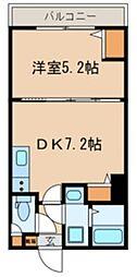 JR総武線 千葉駅 徒歩9分の賃貸マンション 3階1DKの間取り