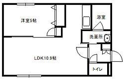 HalleyView東札幌(ハレービュー)[402号室]の間取り