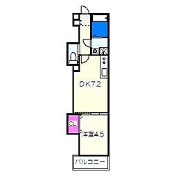 南海線 石津川駅 徒歩3分の賃貸アパート 3階1DKの間取り