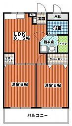 三愛室見マンション[306号室]の間取り