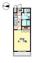 プリムール[2階]の間取り