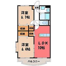 ユーミーRisa[3階]の間取り