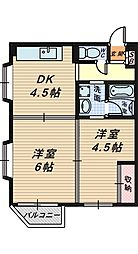 砂道マンションカワ[3階]の間取り