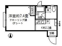 東京都練馬区練馬2丁目の賃貸マンションの間取り