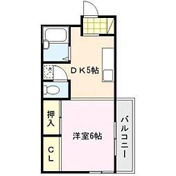 三共ビル[3階]の間取り