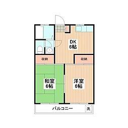マンション築地[3階]の間取り