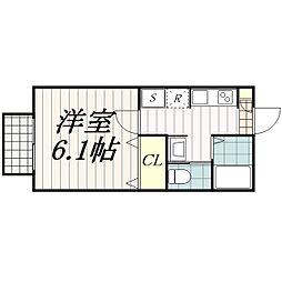 千葉県千葉市花見川区幕張町5の賃貸アパートの間取り