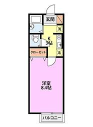 メゾン・ソレイユ[102号室]の間取り