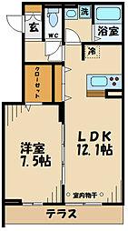 仮)D-room府中町2丁目 3階1LDKの間取り