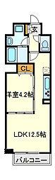新鎌ヶ谷駅前ビル[6階]の間取り