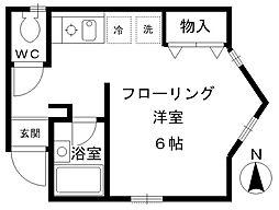 東京都西東京市南町3の賃貸アパートの間取り