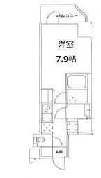 東京メトロ丸ノ内線 茗荷谷駅 徒歩7分の賃貸マンション 6階1Kの間取り