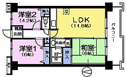 アプローズ大泉学園[8階]の間取り