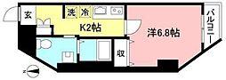 Pino Sakuragaoka 11階1Kの間取り
