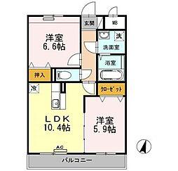 新潟県新潟市中央区女池西1丁目の賃貸マンションの間取り