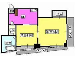 第1廣田マンション[402号室]の間取り