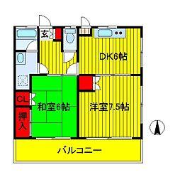 第1メゾン関場[1階]の間取り