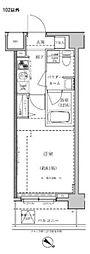 東武東上線 東武練馬駅 徒歩10分の賃貸マンション 4階1Kの間取り