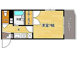 シャトレ21大手門[5階]の間取り