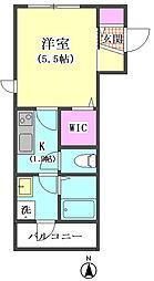 JR京浜東北・根岸線 蒲田駅 徒歩7分の賃貸マンション 2階1Kの間取り