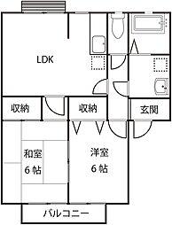 セントハイツI棟[2階]の間取り