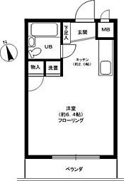 カルム堀口[3階]の間取り