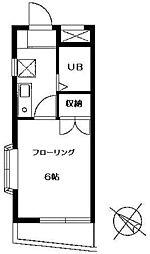 ソレイユ稲田堤[3階]の間取り