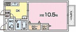 岡山手ハイツ[1階]の間取り