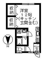 メイプル熊野[103号室]の間取り