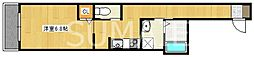 JR総武線 小岩駅 徒歩7分の賃貸マンション 3階1Kの間取り