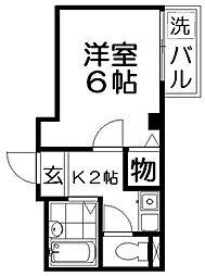 プラザ高柳1号館[2階]の間取り
