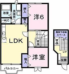 マノワール・ヴェールIII[2階]の間取り