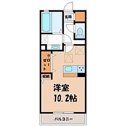 茨城県古河市原町の賃貸アパートの間取り