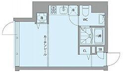 グランアセット秋葉原 5階ワンルームの間取り