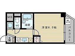 U−ro新大阪[3階]の間取り