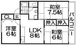 セジュール入江[2階]の間取り