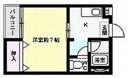 アバンセ箱崎[405号室]の間取り