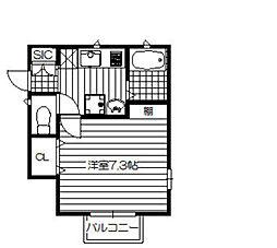 プチ・ラパンIII[2階]の間取り