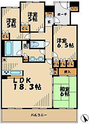 神奈川県川崎市麻生区栗平2丁目の賃貸マンションの間取り