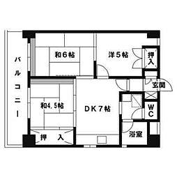 第12岡部ビル[1007号室]の間取り