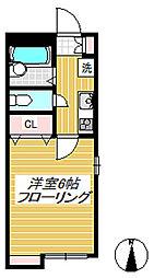 東京都世田谷区桜上水3丁目の賃貸アパートの間取り