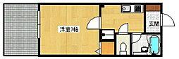 福岡県福岡市城南区茶山2丁目の賃貸アパートの間取り