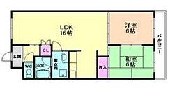 兵庫県宝塚市山本東2丁目の賃貸マンションの間取り